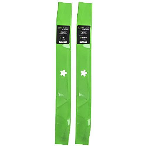 8TEN LawnRAZOR Mulching Blade Set for 42 inch Deck Craftsman Poulan AYP Husqvarna 138498 134149 138971 532138971 2 Pack
