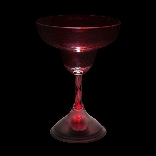 Windy City Novelties LED Light Up Colorful Margarita Glass - Set of 4