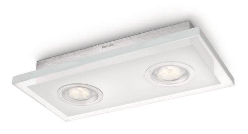 Philips Quart - Plafón LED, 2 x 7.5 W, 220 V