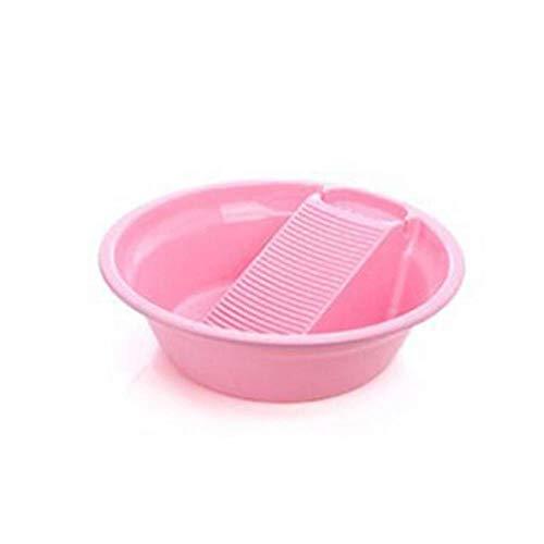 Washtub kunststof met dikke washboard washtub voor het wassen van ondergoed van kunststof, lavendel, roze