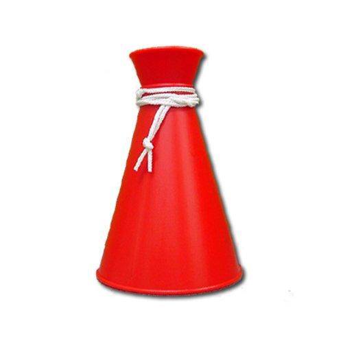 [プロモ] ミニ メガホン (赤色) コンパクトサイズ [野球 サッカー スポーツ 応援 グッズ] 体育祭 イベント