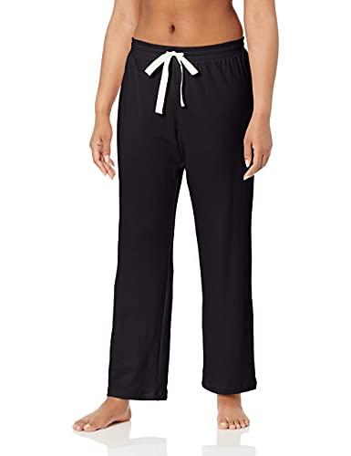 Amazon Essentials – Pantalones ligeros de tejido de rizo para mujer, Negro, US S (EU S - M)