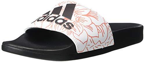 adidas Damen Adilette Comfort Slide Sandale, Weiá (Ftwr Weiß/Kern schwarz/violett getönt), 37 EU