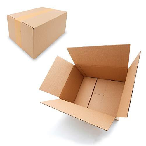 25 Faltkartons 300x215x140mm braun KK 30 1 wellig rechteckiger Versandkarton für mittelgroße Waren | DHL Päckchen M | DPD S | GLS S | Hermes Paket S |mittelgroße Kartons