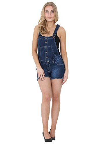 G8 One Latzshorts - Dark Wash Kurze Latzhose Damen Denim Shorts Overall Shorts HOLLYDARK-12