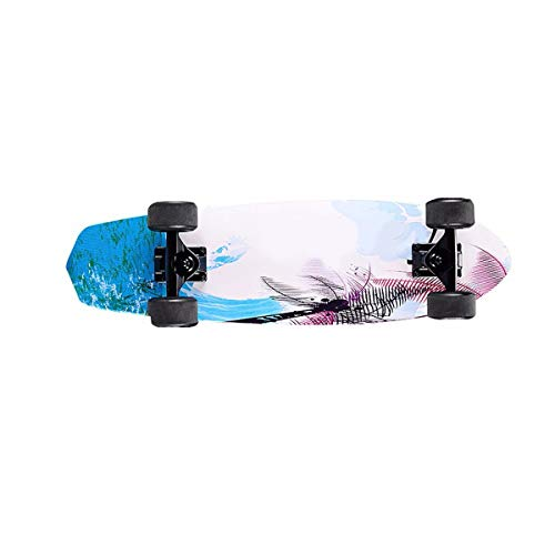 Fantastic Deal! HongTeng Mini Brush Street Skateboard, 4-Wheel Maple Skateboard, Small Fish Board Br...