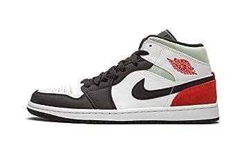 Jordan 1 Mid Se Red Grey Black Toe Mens 852542 100 - Size 11.5