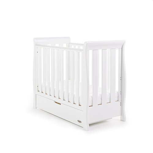 Obaby Stamford Sleigh Space Saver Cot - White