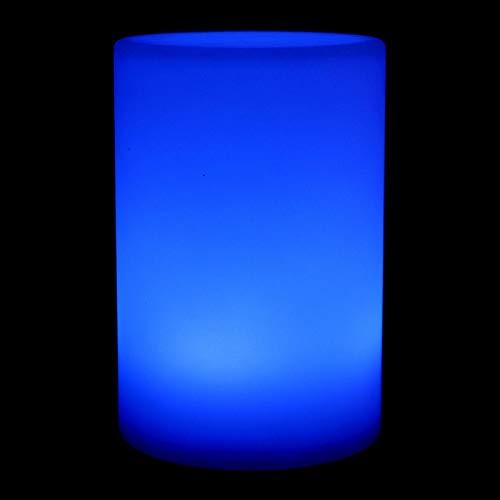 Okuyonic Luz de Escritorio LED Impermeable Antideformación Decoración Lámpara de Mesa cilíndrica para el Patio del Dormitorio(Round (Rechargeable))