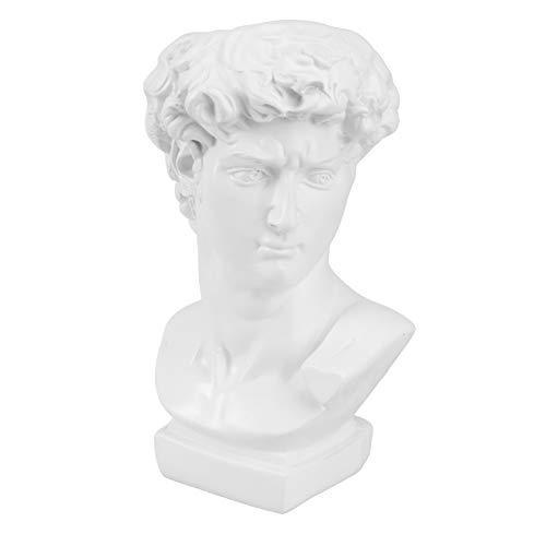 DOITOOL Skulptur Kopf Pflanzer Griechische David Statue Saftige Pflanzer Vase Stift Make-Up Pinselhalter für Garten Wohnkultur