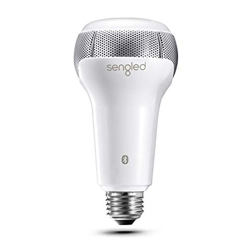 Sengled Solo Bluetooth JBL Speaker Light Bulb Dual Channel Dimmable LED Light Bulb App Controlled 45W Equivalent E26 Smart Timing Music Bulb, Compatible with Alexa via Bluetooth Connection