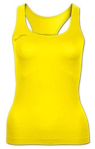 Joma Skin Camiseta, Mujer, Amarillo, XL