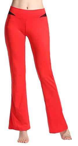 Lotus Instyle Damen Yoga Pants Komfortable Lose Sports Leggings Red-M