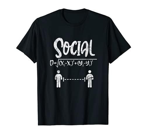 Math Teacher Formula Quarantined Distance Learning T-Shirt