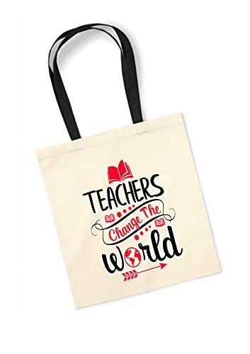Los Eventos de la Tata. Bolsa Tote Bag con Asa Rosa para regalar a Maestros profesores