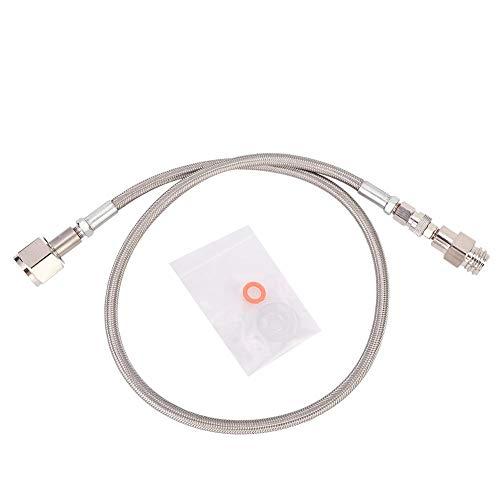 Hochdruckschlauch und Schlauch mit Adapter und Beutel x Dichtung, 1 m G1/2 Hochdruckschlauch CO2 für SodaStream zum externen CGA320 Tank Direktadapter(Silber)