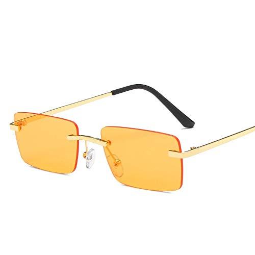 Gafas De Sol Sin Montura para Mujer Hip Hop Vintage Retro Eyewear Hombres Gafas De Sol Tendencia Gafas De Diseñador De Lujo 2