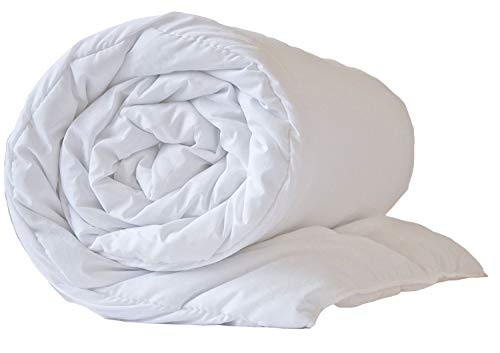 Hotel Quality Pure White Microfibre Peached Duvet SuperKing 4.5TOG Feels Like Down