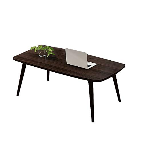 HAIZHEN Tables basses Grande table basse, table basse assemblée, table de stockage de jambe en bois plein pour l'étude de salon 100 * 50 * 43cm (Couleur : A)