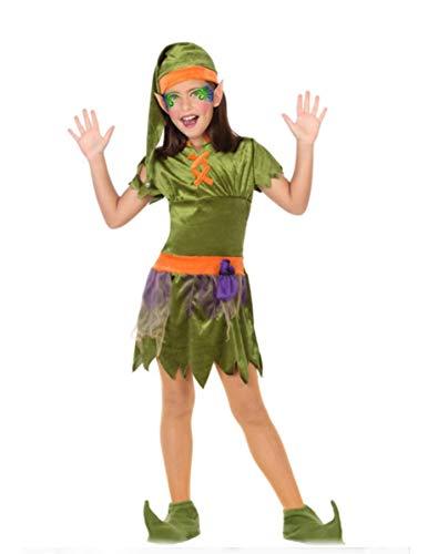 Atosa-56911 Disfraz Duende, Color Verde, 10-12 Años (56911)