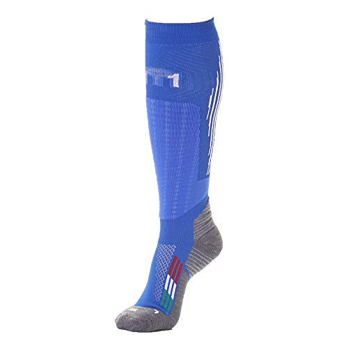 MICO Chaussette Ski M1 Winter Pro Performance, Bleu, M