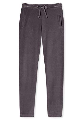 Schiesser Damen Lange Schlafanzughose Loungehose Nickihose Lang - 163092, Größe Damen:38, Farbe:braungrau