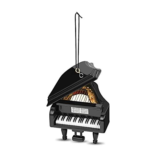 Black Grand Piano Christmas Ornament - Best Christmas Ornaments For Piano Students Christmas Mosaic