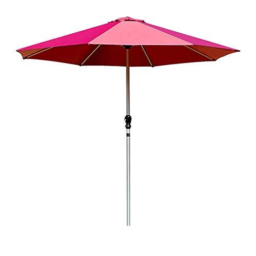 WGFGXQ Sombrilla Grande para Exteriores, Mesa y Silla de aleación de Aluminio, sombrilla para Patio, Adecuada para terraza de jardín y Playa Rojo Vino