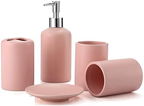 KMILE Herramientas de Lavado de cerámica Pink Biberón Bebé Enjuague Bajada Jabón sobre Cepillo de Dormido (Color : Pink, Size : Free)