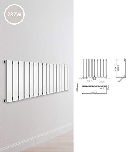 Design Paneelheizkörper einlagig zweilagig Flachheizkörper Bad Heizkörper Heizung, Ausführung:Einlagig, Maße:456 x 604 x 58 mm