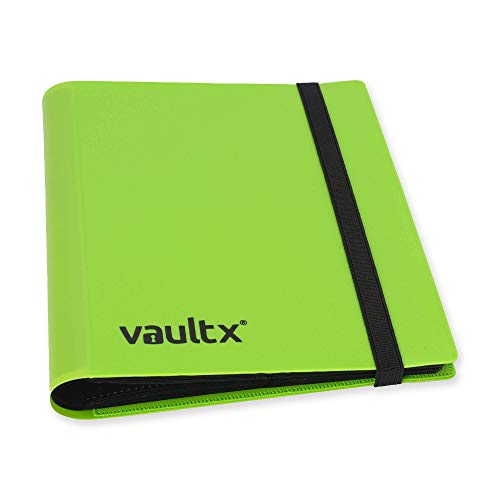 Vault X Binder - 4 Pocket Trading Card Album Folder - 160 Side Loading Pocket Binder for TCG (Green)