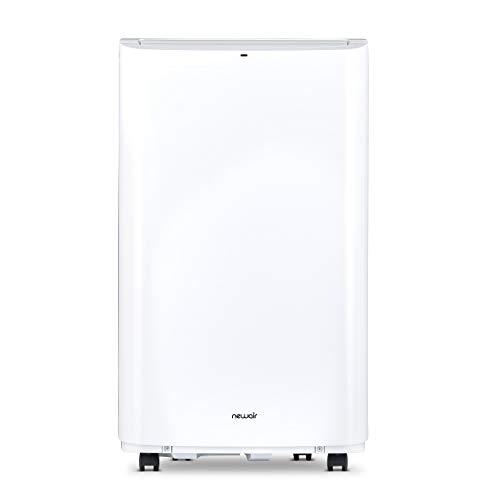NewAir Portable Air Conditioner and Dehumidifier 14,000 BTU (9,500 BTU, DOE) Ultra Compact with Remote Control, NAC14KWH02 White