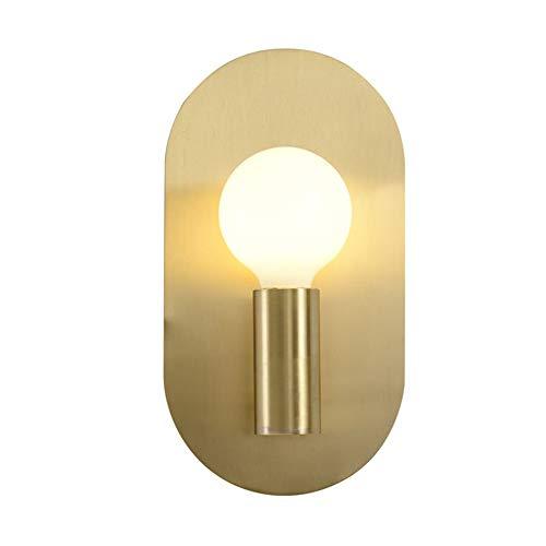 T ECH Amerikanisches Licht Luxuxkristallglas Kupfer Wandleuchte, Wohnzimmer Schlafzimmer modern minimalistische Innen Haushalt Doppelkopf Glas Kupfer-Lampen