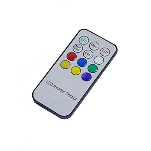 Control remoto Qsportpeak con temporizador para vela recargable LED Tealight (12 teclas)