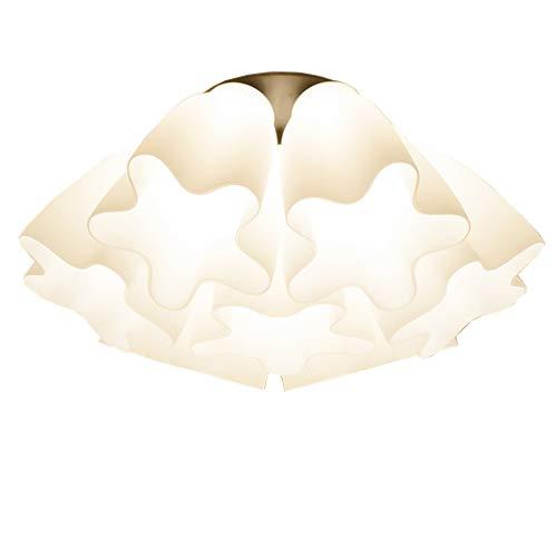 YANQING Duurzame plafondlampen glas plafondlamp, creatieve bloem plafond lamp voor slaapkamer studie kamer woonkamer, plafond verlichting kroonluchter met glas lampenkap plafondlampen