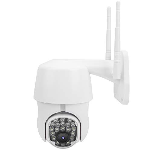 Cámara PTZ, cámara Impermeable 1080P HD WiFi con 20 Luces, Seguimiento Inteligente, protección del hogar con Domo de Vista Nocturna a Todo Color, 100-240 V, para Seguridad en el hogar(EU Plug)