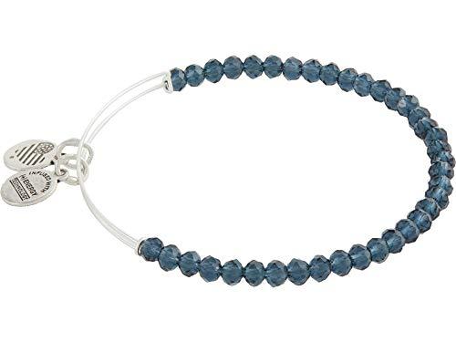 Alex and Ani Brilliance Bead Bangle Bracelet Navy One Size