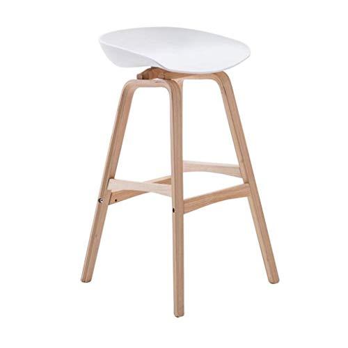 DBL Silla taburetes Taburetes Reposapiés de Madera del Respaldo sillas de Comedor for la Cocina/Bar/Bar contemporáneo plástico taburetes Taburete Alto Teniendo Fuerte, Altura del Asiento 65cm / 75