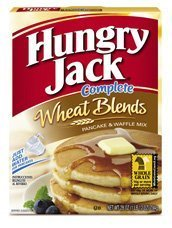 Hungry Jack Complete Wheat Blends Pancake and Waffle Mix 28 oz. (Pack of 4)