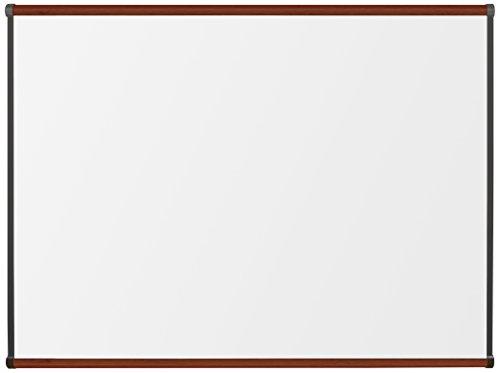 Best-Rite TuF Rite Melamine Dry Erase Whiteboard, Origin Trim, Mahogany, 3...