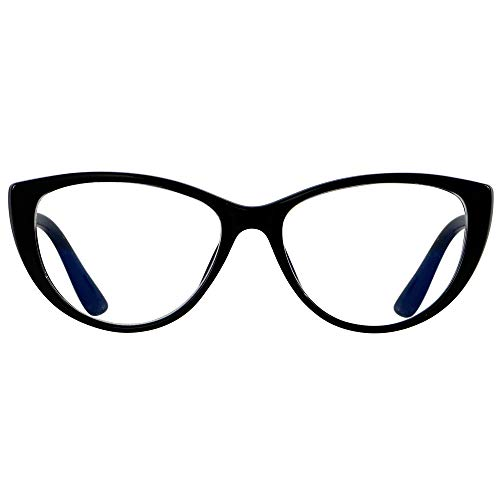 Blaulicht-blockierende Brille für Frauen, Bluelight-Blocker, Computer-Cateye-Brille mit transparentem Katzenaugen-Rahmen von ANDWOOD AR003