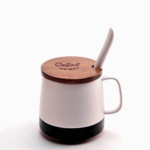 Mugcap creativo conjunto de taza de café continental simple jarras esmeriladas con...