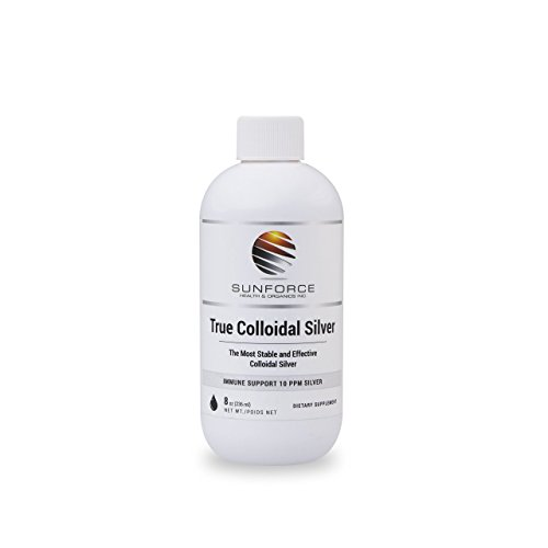 True Colloidal Silver Dietary Supplement - 10 ppm Silver for Immune Support 8oz