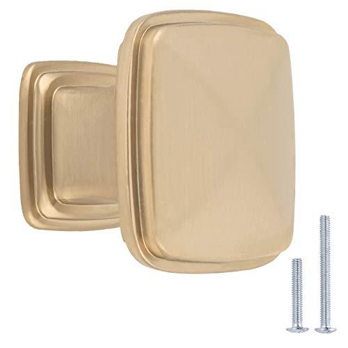 AmazonBasics – AB400-GC-10 Möbelknäufe, Durchmesser 3,18cm, goldfarben/Champagner