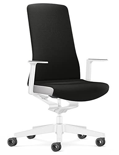Interstuhl Silla de Oficina Pure Interior Edition – Adaptación al Peso y al Movimiento – tecnología ergonómica Smart Spring (Negro I Blanco)