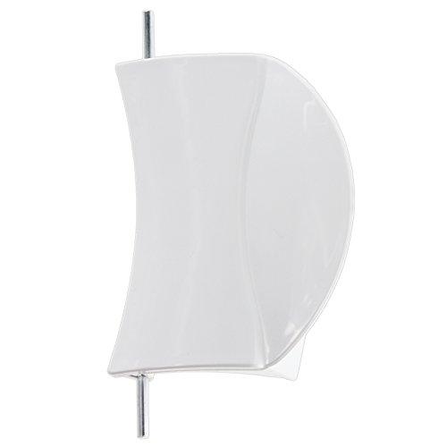 Spares2go witte deurkruk kunststof houder & pin voor Bosch WAE serie wasmachine (wit)