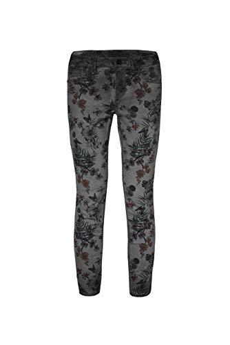 SOCCX Damen Coloured Jeans MI:RA mit All Over Print