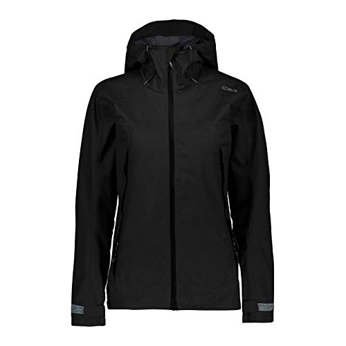 CMP functionele jas Woman Jacket FIX Hood zwart waterdicht ademend