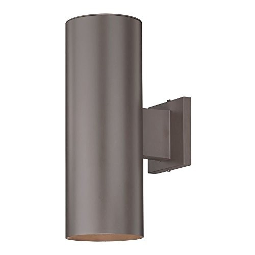 Design Classics Lighting Contemporary Up Down Cylinder Outdoor Wall Mounted Light in Bronze Finish