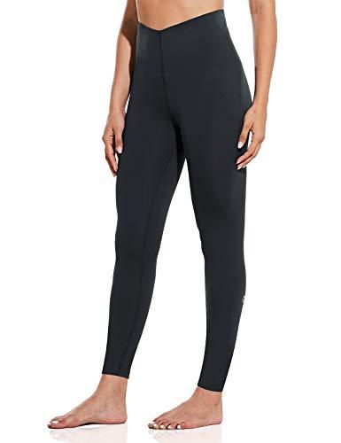 BALEAF Super High Waisted Shapewear for Women Tummy Control Leggings Postpartum Yoga Compression Pants Black Size Large